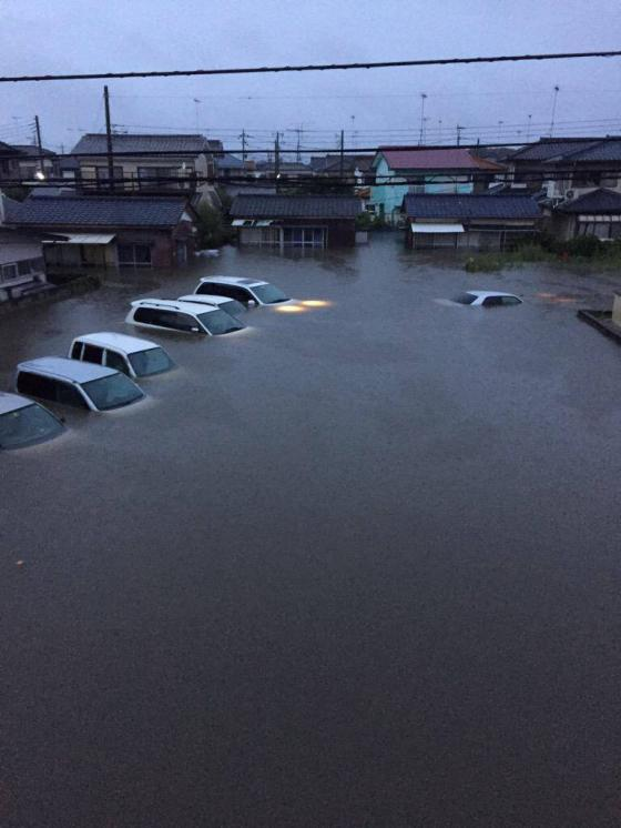 台風18号栃木県小山市