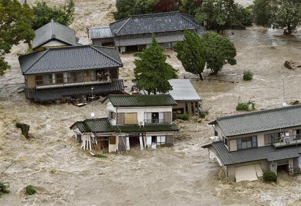 台風18号鬼怒川決壊